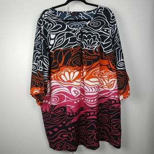 Anna Scholz for Simply Be floral tunic blouse